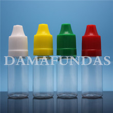 Wholesale 3000pcs 5ML PET Eye Dropper Bottle with dropper tip childproof caps Liquid Needle Bottles Express Free Shipping