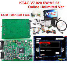 Newes KTAG V7.020 OBD2 Manager Tuning No Tokens Use Online K-TAG 7.020 For Car/ Truck/Tractor K-TAG ECU Chip Tuning Tool