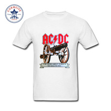 2017 Teenage Youth Funny AC DC Band Rock Funny Cotton T Shirt for men