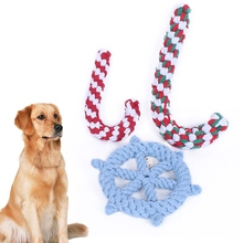 Pet Toy Pet Dog Toys Rudder Crutch No Poison Health Chew Cotton Rope Toys Molar Clean the Teeth Dog Accessories(China)