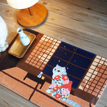 Home & Life Soft Cotton Blanket Fannel Blanket CAT of Japanese Style Carpet M Size Best Christmas Gift Children Room Decorated(China)