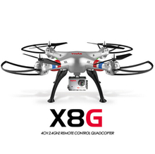 Original Syma X8G 2.4G 6 Axis Gyro 4CH RC Quadrocopter Headless mode Professional Drones 5MP Camera hd - DK TEAM store