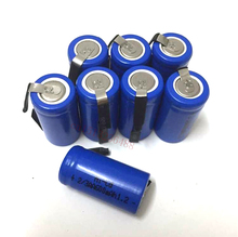 10pcs/lot AA Ni-Cd 1.2V 2/3AA 600mAH rechargeable battery NiCd charging Batteries - Blue Free Shipping