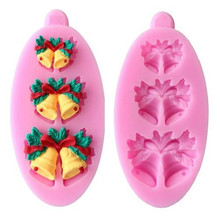 Silicone Fondant Chocolate Sugar Craft Cake Baking Mold X'mas Wind Chime