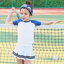 Summer 2017 Baby Girls Active Clothing Sets Children Short Sleeve Tops + Skirts Sets Girl Tennis Set Kids Girls' School clothes(China)