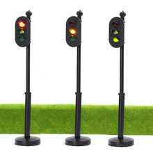 JTD325 5pcs model Traffic Signals 1:32 G Scale Crossing LED Crosswalk Signal Road Street light railway modeling model kit 1/35