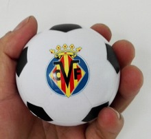 "6.3cm(2.25"") Villarreal CF  football team souvenir  football stress ball,madrid la liga CF soccer  ball toy ,4pcs/lot"