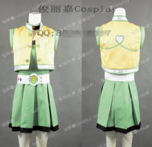 Anime Powerpuff Girls Z Momoko Akatsutsumi Uniform Dress Cosplay Costume Any Size 3 colors(China)