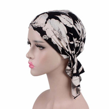 2017 New Stretch Cotton Printed Headscarf Hat Chemical Cap Pirate Hat Bohemian Headband TJM-277 Hair Accessories(China)