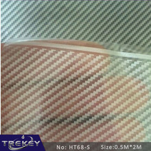 0.5M*2M Transparent Carbon Fiber Water Transfer Printing Film HT68-S, Hydrographic film, Decorative Material(China)