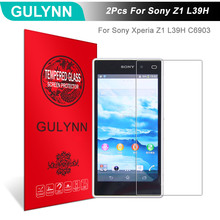 Buy 2Pcs/Lot GULYNN Amazing 2.5D 9H Tempered Glass Sony Xperia Z1 L39H C6903 Screen Protector Glass Film Tough Package for $3.77 in AliExpress store