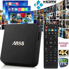 M8S Android 4.4 Mini PC TV Box Amlogic S812 Quad Core 2GB 8GB XBMC 4K Multifunction Skype Youtube Facebook Online movies US Plug