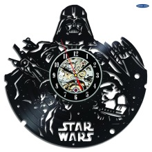 Star Wars Death Star Designed Wall Clock - Decorate your home with Modern Large Darth Vader and Luke Skywalker Art