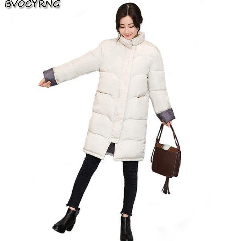 2017New Winter Han Edition Long Loose Women Long Style Jacket Fashion Big Yards Warm Eiderdown Cotton Students Sweet Coat Q636Îäåæäà è àêñåññóàðû<br><br>