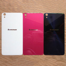 For Lenovo S850 Case Back Cover Glass Rear Door Housing Replacement For Fundas Lenovo S 850 S850T Battery Cover STICKER Adhesive