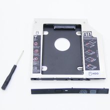 For Laptop CD DVD-ROM ODD Optibay  Aluminum Universal SATA SSD HDD Caddy 9.5mm HDD Enclosure free ship registered post mail