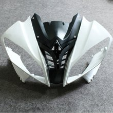 Motos Unpainted Nariz Superior Carenagem Frontal Cowl Para Yamaha YZF R6 YZFR6 2008 2009 Fairings YZF600 YZF-R6 R600 08 09 Superior do Caso