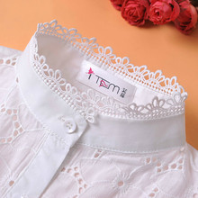 2017 Spring New Cotton Hollow Texture Fake Collar Children Shirt Lace Stand Collar Detachable Collar(China)