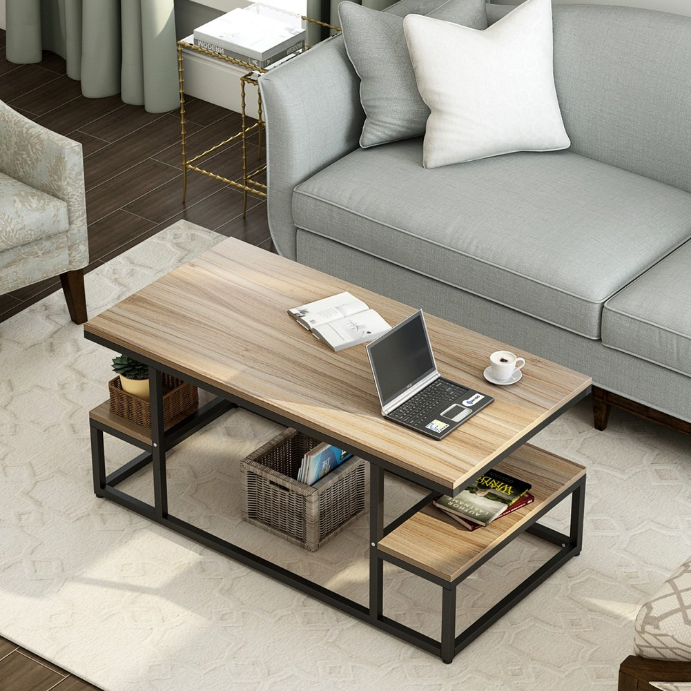 Coffee Table for Home/& Office Modern Table Living Room Furniture w//Storage Shelf