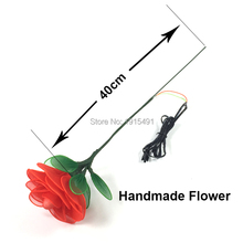 Neon Led Strip Glowing Night Fluorescent Rose Hana with DC3V Steady On Drive Luminous EL Rope Fairy Silk Flower as Stage Lamp(China)