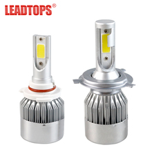 LEADTOPS H4 H7 H11 H1 H13 H3 9004 9005 9006 9007 COB LED Car Headlight Bulb Hi-Lo Beam 30W 8000LM 6000K Auto Headlamp 12v ej(China)