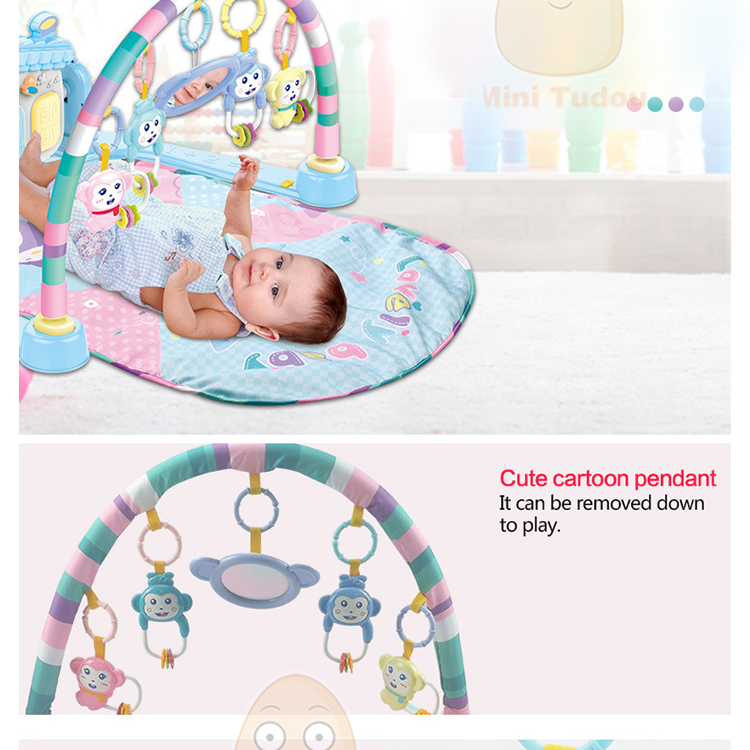 MiniTudou Baby Activity Play Mat Baby Gym Educational Fitness Frame Multi-bracket Baby Toys 0-12 Months Game Mats For Kids 3