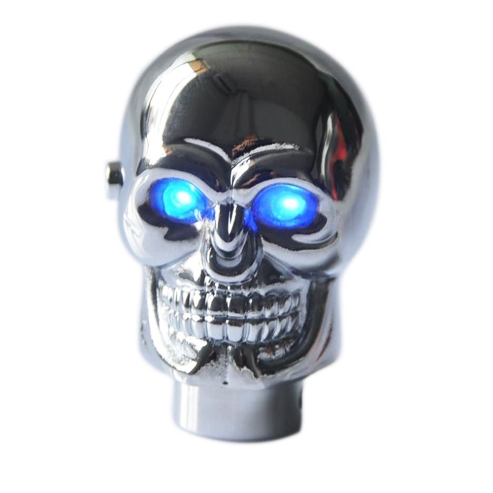 Red LED Skull Manual Cars Decoration Gear Stick Shift Knob Shifter