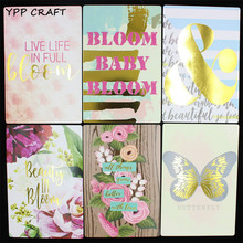 YPP CRAFT Live Life In Full Bloom Cardstock Die Cuts for Scrapbooking DIY Projects/Photo Album/Card Making Crafts  20Pcs