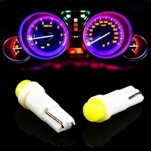 T5 W1.2W Car Interior LED light  Auto Side Wedge Gauge Dashboard Gauge Instrument Lamp Bulb 12V White Blue Red Green Yellow