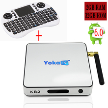 Yokatv KB2 Amlogic S912 Android 6.0 Tv Box 2GB 32GB 1000M LAN Media Player WiFi Bluetooth 4.0 H.265 4K*2K I8 Keyboard Optional