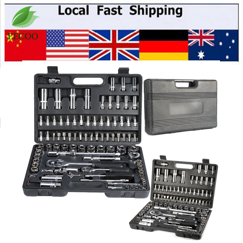 "94pcs 1/2"" 1/4"" Socket Set Screwdriver Bit Tool Ratchet Wrench Driver Kits Sets Repair Tools Car Bicycle Spanner Lever(China (Mainland))"