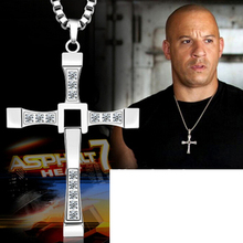 The Fast and the Furious Gold Color Cross Pendant Necklaces Collier Dominic Toretto Bijoux Items Male /Female Jewellery