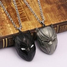Movie jewelry Black Panther Metal Necklace Cosplay Pendant for Boy Girl Men Women with non-fade alloy chain HF11978