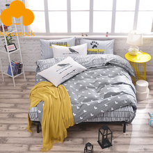 2017 MECEROCK 100%Cotton Bedding Sets Fresh Brief Blanket/Duvet Cover Sets Luxury Bed Linens Simple Style Flat Sheet Pillowcases