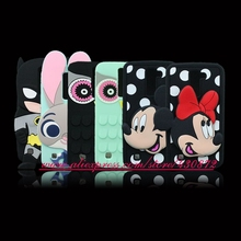 For LG K10 Cute 3D Silicon Sexy Lip Minnie Batman Bunny Cat Cartoon Soft Cell Phone Back Skin Case Cover for LG K10 Q10 K420N(China)