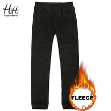 HanHent New Classic Casual Pants Men Thin Thick Fleece Trousers Male Streetwear Fashion Fitness Sweatpants Autumn Winter Boys(China)