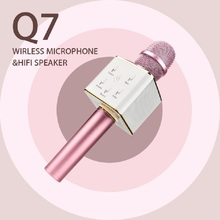 Q7/ K068 Wireless Bluetooth mini Microphone Karaoke player KTV Singing Record Music Bluetooth Speaker For Smart phone