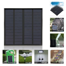 Hot Sale 3W 12V 125mA Polycrystalline Silicon Solar Panel Small Solar Cell PV Module for DIY Solar Display Light Battery Charger