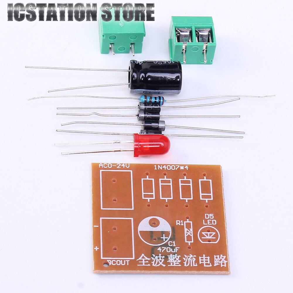 5Pcs AC To DC Converter IN4007 Bridge Rectifier Suite Full Wave Rectifier Circuit Board For DIY Kits<br><br>Aliexpress