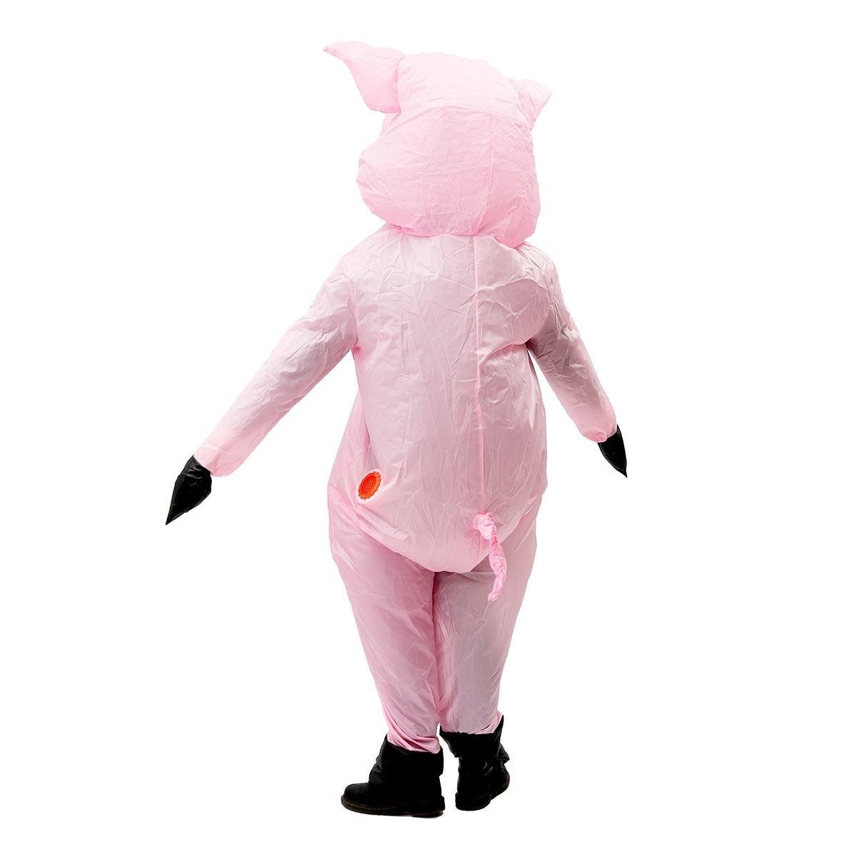 Pig Nose Snout Saw Animal Latex Fancy Dress Costume oink not inc x 2pcs SET