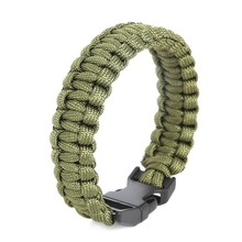 Camping Hiking Emergency ParaCord Bracelet For Men Women Survival Parachute Rope Whistle Buckle Kit Wristbands(China)