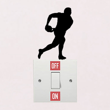 Rugby Player Wall Switch Stickers Decals Bedroom Vinyl Home Decor 6SS0134(China)