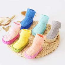 Cotton Children 'S Floor Socks Non - Slip Sticky Candy Color Newborn Baby Spring Summer Toddler Socks Girl Socks LL108(China)