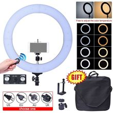 Fotoconic 80W 48cm 2700K~5500K 448 LED Dimmable Ring Light Kit with Bluetooth Remote Shutter for Photography Video Photo Selfie(China)