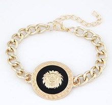 new Arrival SBY0301 fashion Ladies delicate wild temperament metal gold chain lion bracelets