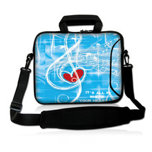"Heart music 10"" Laptop Shoulder Bag Case For 10.1"" Samsung Galaxy Tab GTP7500 P75100"
