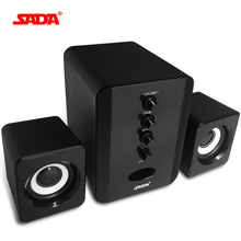 SADA Wired 2.1 Portable Combination speaker suitable desktop Laptop USB/AUX Brand PC computer speaker Column computer speaker 3W