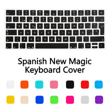 New EU Spanish Version Wireless keyboard Silicone Keyboard Cover Protector Skin for Apple New Magic Keyboard 2 Release in 2015