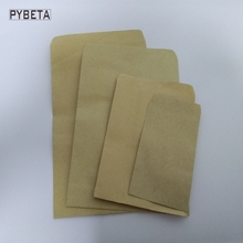 100pcs/lot- 4 sizes available Blank Kraft Paper Bag Seeds Storage Bags DIY Handmade Soap Sample Gift Packaging bags