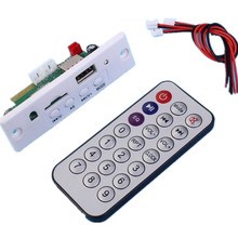Mini 3.7-5V Bluetooth MP3 Decoder Audio Decoding Board Call FM Radio Player Support WAV AUX Input USB TF Card U-Disk Module(China)